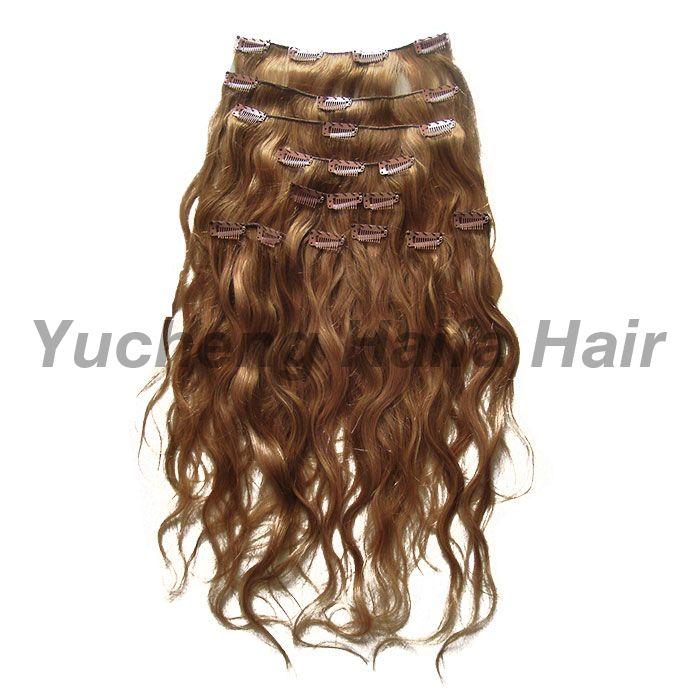 Human Hair Clip in Hair Extension HF9301