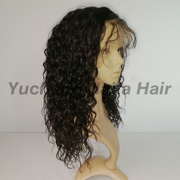 Natural Color Brazilian Human Hair Curly Lace Front Wig