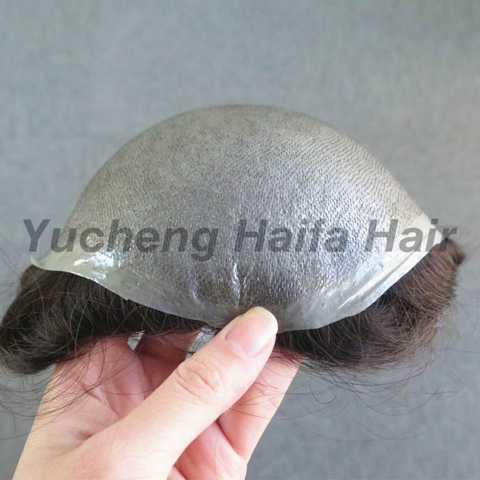 Ultra Thin Skin Natural Looking V Loop Toupee For Men