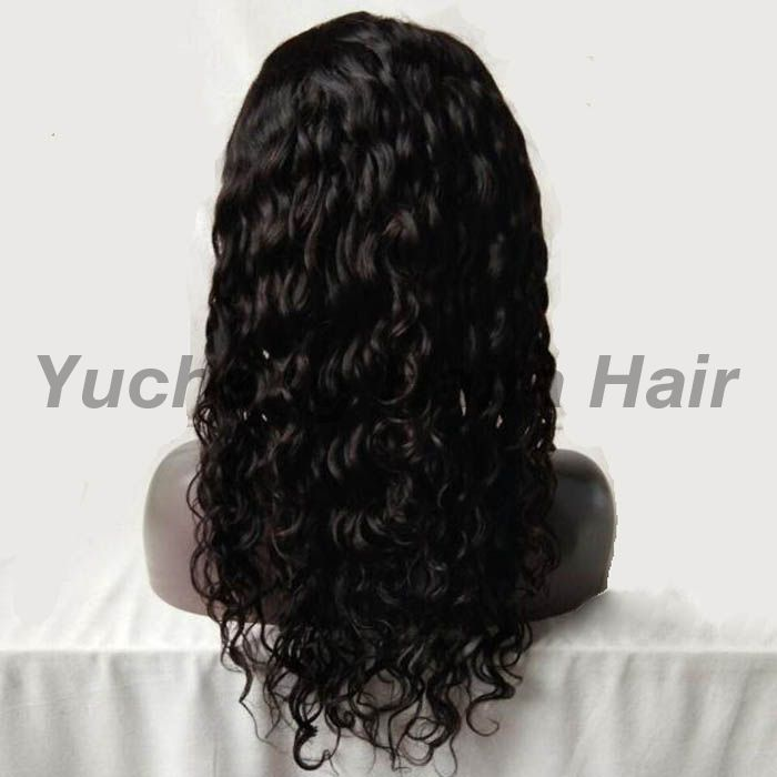 Water Wave Brazilian Human Hair Full Lace Wig
